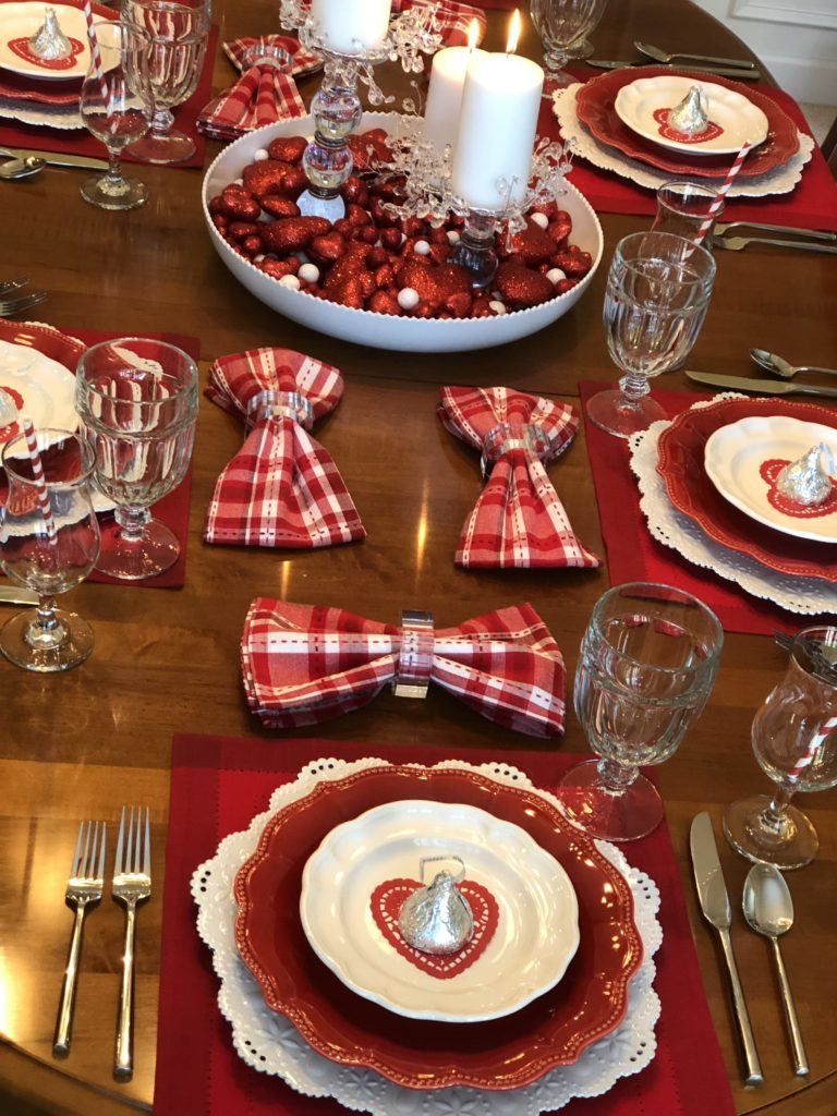 Valentine S Day Red And White Valentine S Day Tablescape